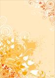 Grunge background. Grunge autumnal background with floral ornament stock illustration