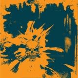 Grunge Background. Grunge Textured Skull Background -Vector Art royalty free illustration