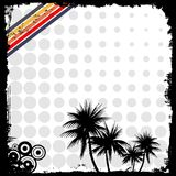 Grunge background. Grunge and halftone background with palms Royalty Free Stock Images