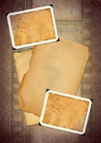 Grunge background. Retro photo framework against an old paper with filmstrip. Grunge background Stock Photography