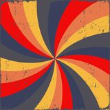 Grunge background. Spiral in colors Stock Photos