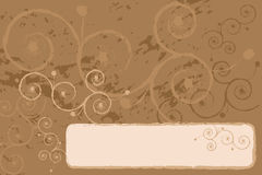 Grunge background. With swirl, brown tones vector illustration