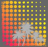 Grunge background. Grunge and halftone background with palms Royalty Free Stock Photos