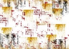 Grunge background. With brushes of yellow, red and black Royalty Free Stock Images