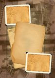 Grunge background. Retro photo framework against an old paper with filmstrip. Grunge background Stock Photos