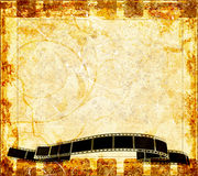 Grunge background with abstract frame. Old grunge background with filmstrip Royalty Free Stock Photo