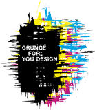 Grunge background as CMYK color Royalty Free Stock Image