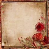 Grunge background with autumn bouquet