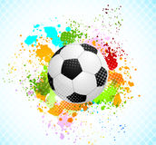 Grunge background with ball Royalty Free Stock Photo