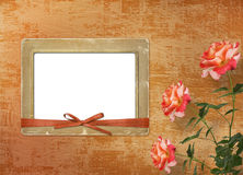 Grunge background with beautiful rose Stock Image