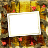 Grunge background with beautiful rose Royalty Free Stock Photos
