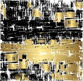 Grunge Background in Black and Gold stock illustration