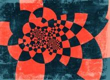 Grunge background. Blue and brown infinity spiral grunge striped background vector illustration
