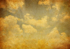 Grunge background in the blue shade. With clouds Stock Photography