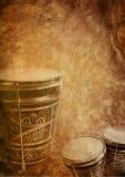 Grunge background bongo Stock Images