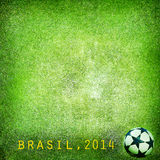 Grunge background - Brazil 2014. Space for text Royalty Free Stock Photography