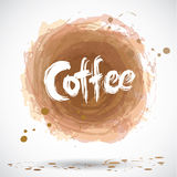 Grunge background with bright brown splash. Coffee. Vector. Illustration Royalty Free Stock Image