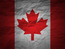 Grunge background Canada flag Stock Image