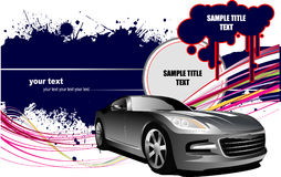 Grunge background  with car images Stock Images