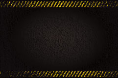 Grunge background with caution stripes Royalty Free Stock Image