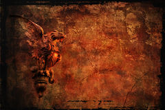 Grunge background with chimera Stock Images
