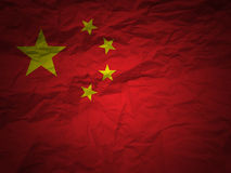 Grunge background China flag Royalty Free Stock Photos