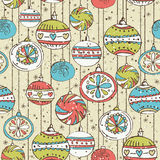 Grunge background with christmas balls,  vector Royalty Free Stock Photo