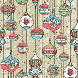 Grunge background with christmas balls,  vector. Illustration Stock Photos