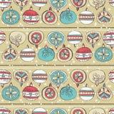Grunge background with christmas balls, vector. Illustration royalty free illustration