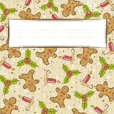 Grunge background with christmas elements,  Stock Images