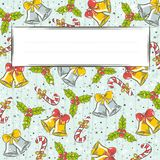 Grunge background with christmas elements Royalty Free Stock Images