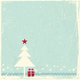 Grunge background with Christmas tree Royalty Free Stock Images
