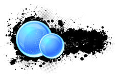 Grunge background with circles Stock Photography