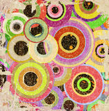 Grunge background. Grunge circles abstract background with stains Stock Photo