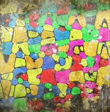 Grunge background. With circles and color stains Royalty Free Stock Photography