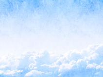 Grunge background with clouds Stock Images