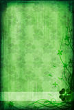 Grunge background with clover Royalty Free Stock Photography