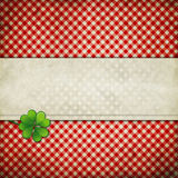 Grunge background with clover leaf Stock Photo