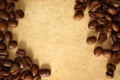 Grunge background with coffee Royalty Free Stock Image