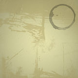 Grunge Background with Coffee Ring Stock Photos