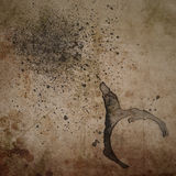 Grunge Background with Coffee Ring Royalty Free Stock Images
