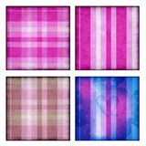 Background collection with plaid and stripes Stock Image
