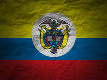 Grunge background Colombia flag Royalty Free Stock Photo