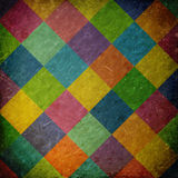 Background with colorful checkered pattern Stock Images
