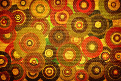 Grunge background with colorful circles Royalty Free Stock Photos