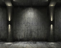 Grunge background concret vault Royalty Free Stock Photo