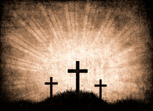 Grunge background with crosses Royalty Free Stock Image