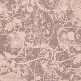 Grunge background with curly pattern vector Stock Image