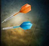 Grunge background with darts Stock Images