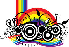 Grunge Background Design. A Rainbow Background Design with color and black & white Royalty Free Stock Images